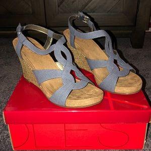 Blue Sandal Wedges